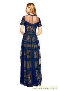 Вечернее платье AWI 17173L NAVY NUDE. Цвет синий. Вид 3