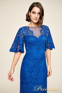 Вечернее платье AUA18255L blvlt. Цвет электрик . Вид 3