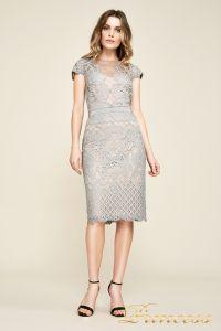 Вечернее платье AUA18795M pwtpl. Цвет стальной. Вид 1