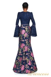 Вечернее платье Tadashi Shoji AYR17735L NAVY . Цвет синий. Вид 2