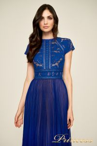 Вечернее платье AYV 17705 LX royal nude back. Цвет электрик . Вид 3