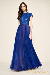 Вечернее платье AYV 17705 LX royal nude back. Цвет электрик . Вид 1
