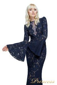 Вечернее платье Tadashi Shoji AYV17735L NV ND. Цвет синий. Вид 2