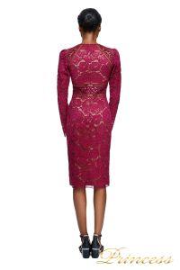 Вечернее платье Tadashi Shoji AYV17792M WINE NUDE. Цвет красный. Вид 2