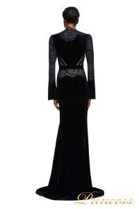 Вечернее платье AZE17673L BK ND. Цвет чёрный. Вид 2