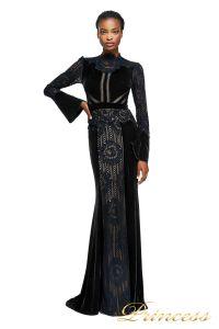 Вечернее платье AZE17673L BK ND. Цвет чёрный. Вид 3