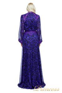 Вечернее платье AZV17610L VIOLET BLACK. Цвет фиолетовый. Вид 3