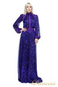 Вечернее платье AZV17610L VIOLET BLACK. Цвет фиолетовый. Вид 2
