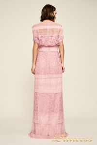 Вечернее платье BBT18367L rsqtz . Цвет розовый. Вид 3