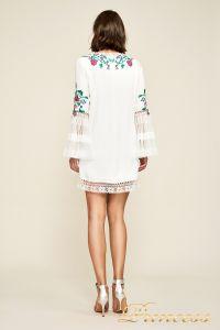 Вечернее платье BDB18423S white dahlia. Цвет шампань. Вид 3