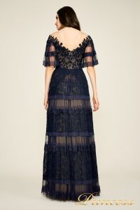 Вечернее платье BDH18395L navy nude. Цвет синий. Вид 2