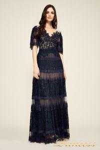 Вечернее платье BDH18395L navy nude. Цвет синий. Вид 1