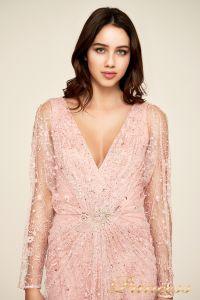Вечернее платье Tadashi Shoji BDI18487LB ROSE. Цвет розовый. Вид 2