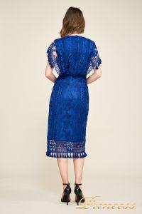 Вечернее платье BDM18592M indigo. Цвет электрик . Вид 2