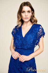 Вечернее платье BDM18592M indigo. Цвет электрик . Вид 3