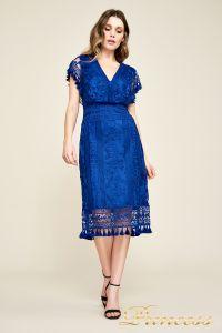 Вечернее платье BDM18592M indigo. Цвет электрик . Вид 4