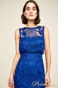 Вечернее платье BDM18593L indigo. Цвет электрик . Вид 3