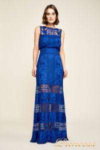 Вечернее платье BDM18593L indigo. Цвет электрик . Вид 1