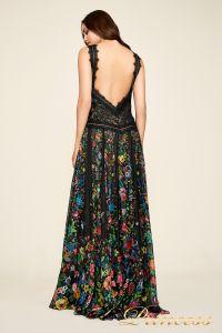 Вечернее платье BDQ17217L bk fl. Цвет чёрный. Вид 2