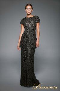 Вечернее платье BJH1060L. Цвет чёрный. Вид 1