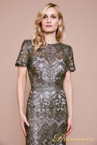 Вечернее платье BMN19428L. Цвет стальной. Вид 2