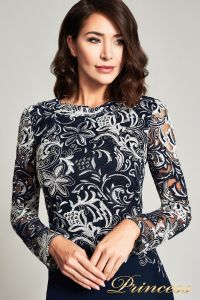Вечернее платье BOQ16206LXY. Цвет синий. Вид 2