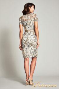 Коктейльное платье BOQ19428M. Цвет бежевый. Вид 2