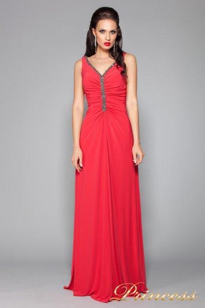 Вечернее платье 10058R (красный)