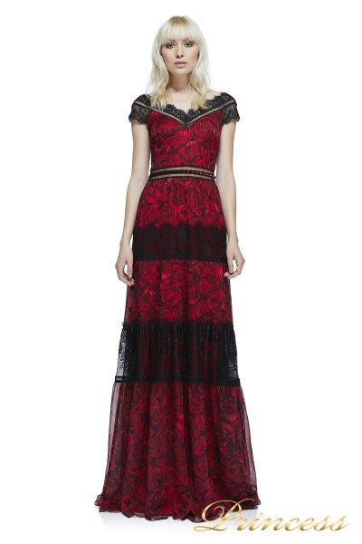 Вечернее платье Tadashi Shoji AZV17607L CARDINALRED BLK (красный)