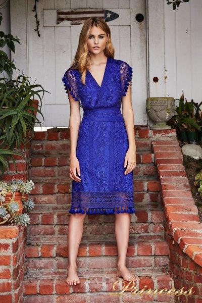 Вечернее платье BDM18592M indigo (электрик )