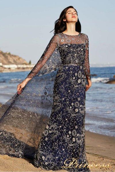 Вечернее платье Tadashi Shoji BDI18482LB (синий)