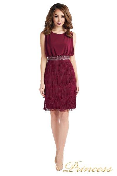 Коктейльное платье 1147 marsala  (wine)