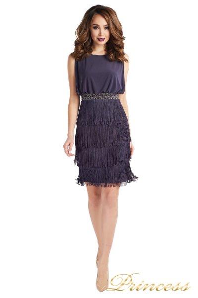 Вечернее платье 1147 gray (серый)