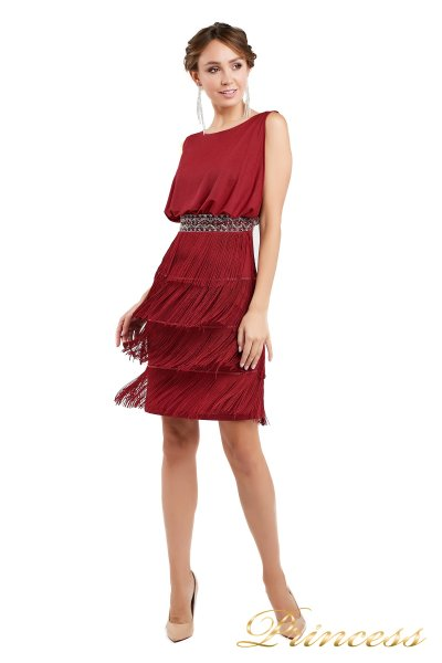 Коктейльное платье 1147 red (красный)