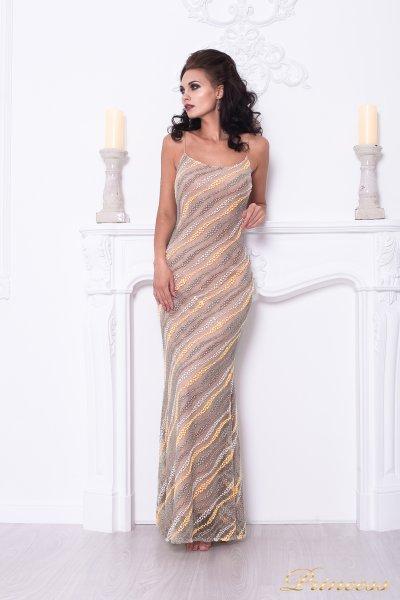 Вечернее платье 1621 (бежевый)