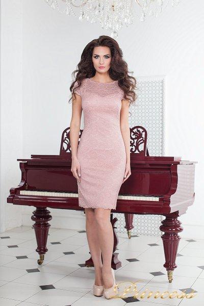 Коктейльное платье 1745 pink (розовый)