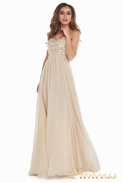 Вечернее платье 12007 (пудра)