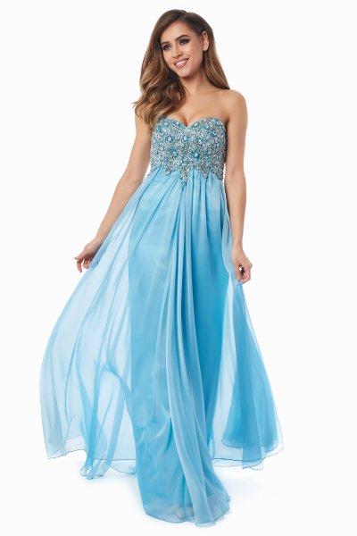 Вечернее платье 12013B (голубой)