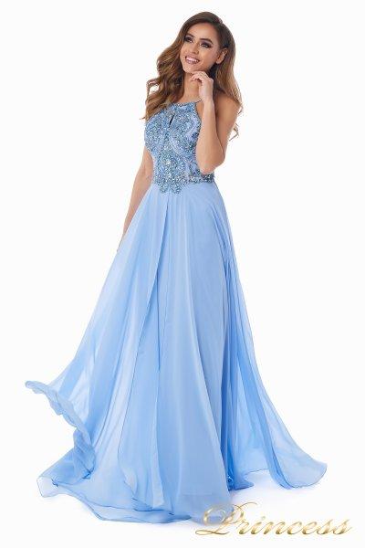 Вечернее платье 12014B (голубой)