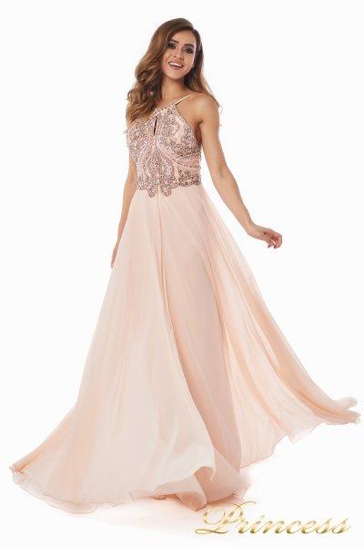Вечернее платье 12014P (розовый)