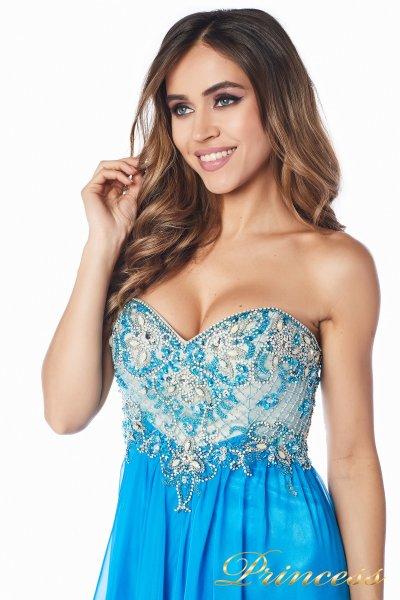 Вечернее платье 12015B (голубой)