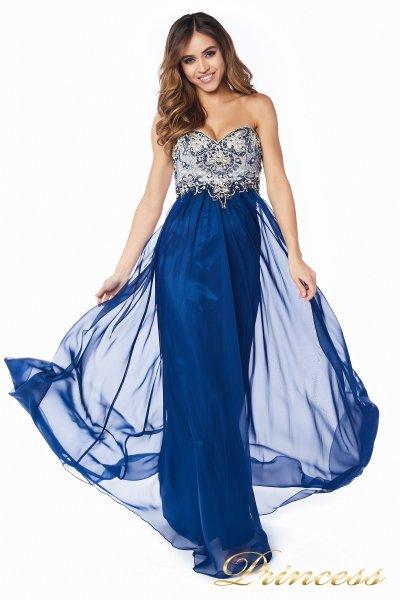 Вечернее платье 12015-5 (синий)