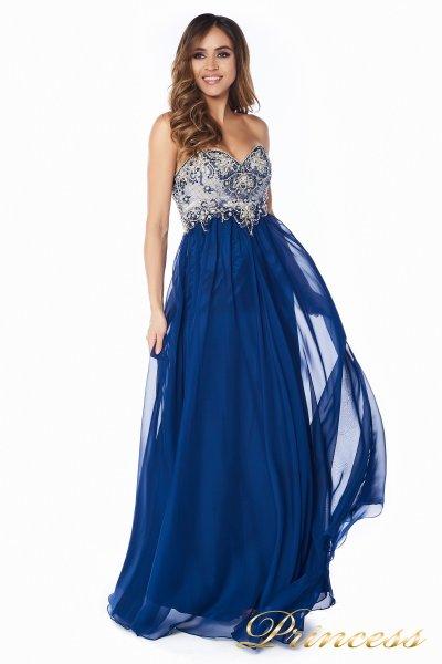 Вечернее платье 12015M (синий)