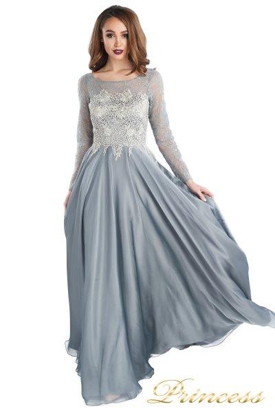 Вечернее платье 20245-171 gray (стальной)