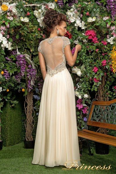 Вечернее платье 12028 (кремовый)