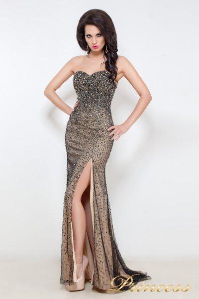 Вечернее платье 12042 (пастельный)
