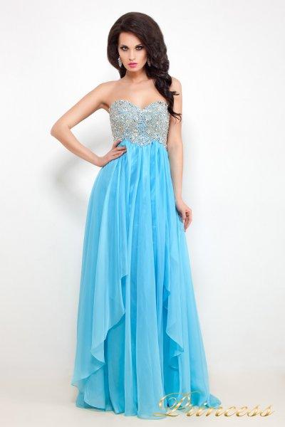 Вечернее платье 12046 (голубой)