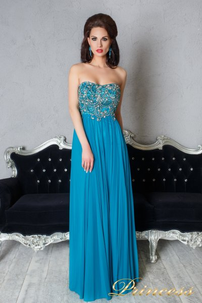 Вечернее платье 12055 (бирюзовый)