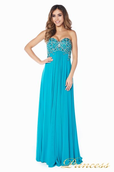 Вечернее платье 12056T (бирюзовый)