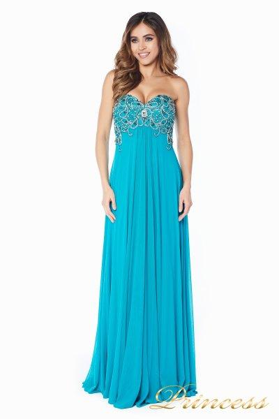 Вечернее платье 12056T (зеленый)